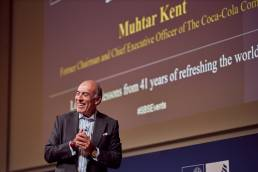 Muhtar Kent, former CEO of Coca-Cola Company giving a presentation at the Saïd Business School in Oxford