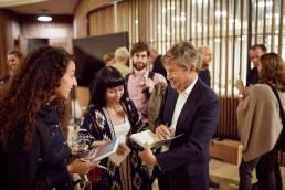 Nicolas Berggruen signing copies of his book 'Renovating Democracy' at the Blavatnik School of Government in Oxford