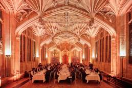 Matriculation dinner at the Divinity School in Oxford