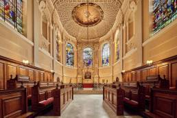 Interior of the chapel of The Queen's College in Oxford