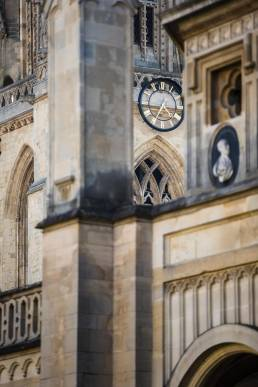 The clock at the University Church of St Mary the Virgin, Oxford