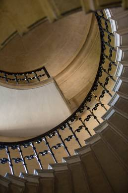 A spiral staircase at Worcester College in Oxford