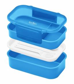 Expanded view of blue lunchbox