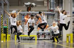 Body Politic dancers at BMW factory in Oxford