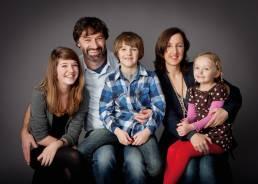 Studio portrait of family of five in Oxford