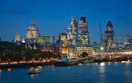 View of London across the Thames