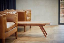 Coffee table designed by Alexander Hay in living room