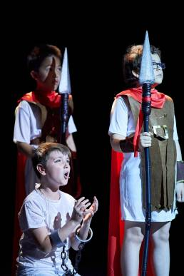 Theatre production of Joseph and the Amazing Technicolor Dreamcoat at Magdalen College School Oxford