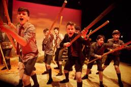 Theatre production of Lord of the Flies by Magdalen College School at the Pegasus Theatre in Oxford