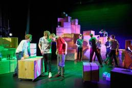 Theatre production of Bucket by Magdalen College School at the Pegasus Theatre in Oxford