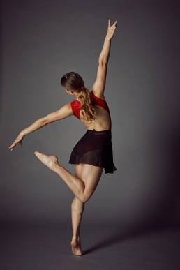 Studio dance photo of girl in dancing pose