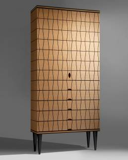 Oak and ebony marquetry cabinet by Baring Furniture