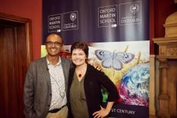 Prof Yadvinder Malhi and Kate Raworth at Oxford Martin School