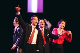 Theatre production of Serious Money by the Oxford School of Drama, at the Pegasus Theatre in Oxford