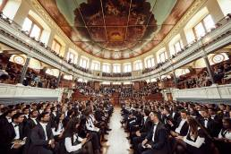 Graduation ceremony at the Sheldonian Theatre in Oxford for MBA students from the Saïd Business School