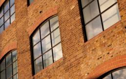 Refurbished factory in London which is now residential or offices