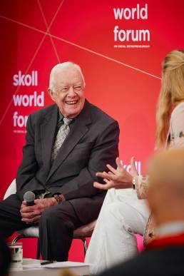 Former President of the United States Jimmy Carter at the Skoll World Forum in Oxford