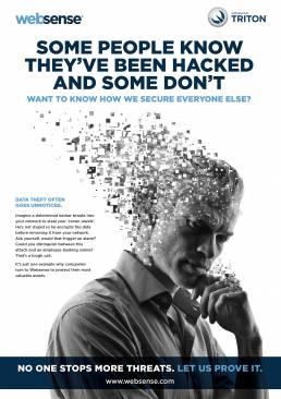 Websense advert for data theft