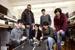 Electrical engineering students at Manchester University for National Instruments