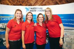 Four team members from National Instruments at NI Days