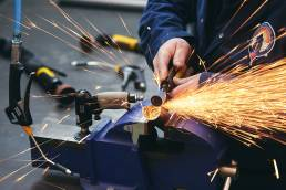 Sparks flying at the Bloodhound factory