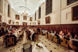 A formal dinner at The Queen's College in Oxford