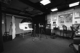Interior of the studio at Fisher Studios